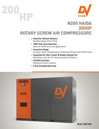 N200 Haida Rotary Screw Air Compressor