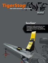 TIGERSTOP, SAWGEAR METAL BROCHURE