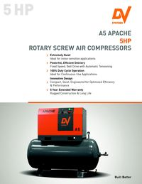 DV SYSTEMS; A5 APACHE 5HP ROTARY SCREW AIR COMPRESSOR