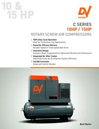 DV SYSTEMS, C SERIES SYSTEM 10HP/15HP, ROTARY SCREW AIR COMPRESSOR