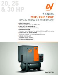 DV SYSTEMS, G SERIES ROTARY SCREW AIR COMPRESSOR