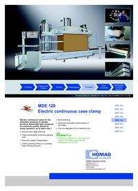 Homag Automation MDE 120 Flyer