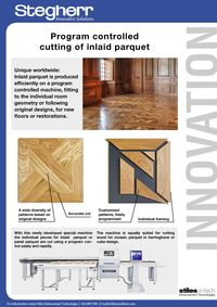 STEGHERR, PROGRAM CONTROLLED CUTTING OF INLAID PARQUET LITERATURE