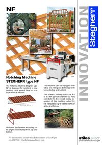 STEGHERR, NF NOTCHING MACHINE LITERATURE
