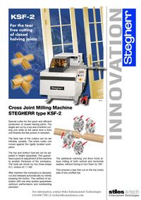STEGHERR, KSF-2 FOR TEAR FREE CUTTING OF CLOSED HALVING JOINTS LITERATURE