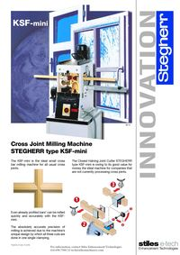 KSF-MINI CROSS JOIINT MILLING MACHINE LITERATURE