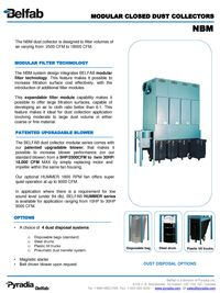 BELFAB MODULAR CLOSED DUST COLLECTORS SERIES - NBM