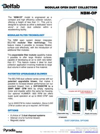 BELFAB MODULAR OPEN DUST COLLECTORS SERIES - NBM-OP