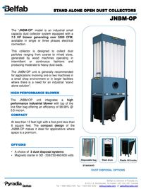 BELFAB STAND ALONE OPEN DUST COLLECTORS SERIES - JNBM-OP