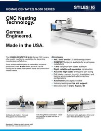 HOMAG CENTATEQ N-300 CUT SHEET