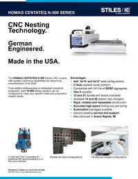 HOMAG CENTATEQ N-500 CUT SHEET