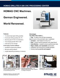 HOMAG CENTATEQ V-200 CUT SHEET