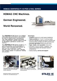 HOMAG CENTATEQ P-110 SERIES 2020 CUT SHEET